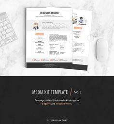 32 Best Media Kit Design Examples Images On Pinterest