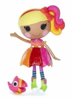 Lalaloopsy Doll, April Sunsplash by Lalaloopsy. $38.00. Articulated head, arms, and legs. Totally collectible. Shoes and clothes can be removed for fashion play. From the Manufacturer                The Lalaloopsy dolls were once rag dolls who magically came to life, taking on the personalities of the fabrics that were used to make them. They live in a colorful, silly world, and it's your job to keep the magic of their world alive.                                   ...