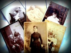 Antique Cabinet Cards - Instant collection - Ancestors Photographs $9.99 thecraftstar.com