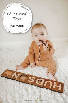 Educational wooden toys that are fun, well-made, and truly unique make treasured gifts for that special toddler in your life. #firstbirthday #educationaltoys #woodtoys Unique Baby Gifts, New Baby Gifts, Gifts For Kids, Handmade Gifts, Wooden Baby Toys, Wood Toys, Toddler Toys, Kids Toys, Wooden Alphabet Letters