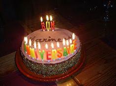 A la demande de nos hôtes : Un gâteau d'anniversaire personnalisé