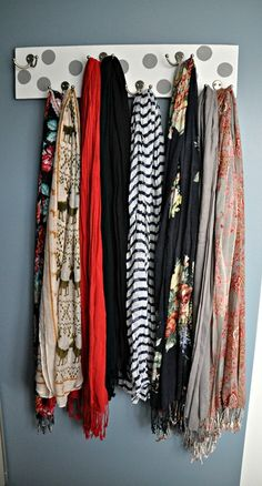 DIY scarf-hanger