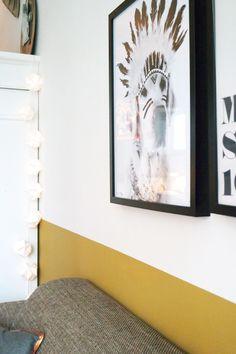 Okergoud in huis bij Stijl Habitat, okergoud, ochregold, colour of 2016, kleur van 2016, Flexa, Akzonobel http://www.stijlhabitat.nl/stijl-habitat-okergoud/