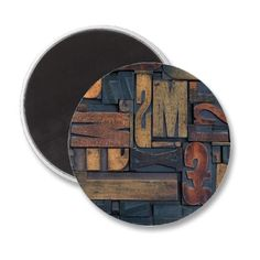 Wooden Letters Fridge Magnet by Argos_Photography