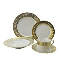 Three Star Im/Ex Inc. Inspired Versace 40 Piece Dinnerware Set