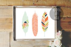 20% OFF Feather print, feather art, feather wall art, feathers,instant download, nursery feathers,tribal feathers,feather printable,wall art by AdornMyWall on Etsy