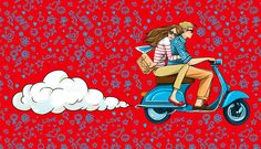 Some pieces of my work by Anna Lazareva, Vespa love ride :)