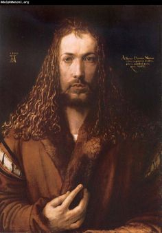 Albrecht Durer--one of my all time favorite artists, and one of my favorite self-portraits.