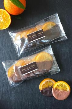 Dipped Oranges - Milk or Dark (90g)