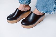 Sydney Brown - clog black/wood.