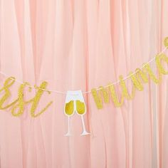 Mimosa Bar 10-Piece Kit - Gold Glitter | Kate Aspen All You Need Is, Batch Cocktail Recipe, Mimosa Bar Sign, Brunch Decor, Kate Aspen, Gold Banner, Create A Signature, Get The Party Started