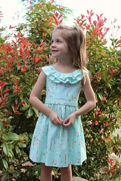 Girls DRESS PATTERN, little girls sizes to fit ages 2, 3, 4, 5, 6, 7 and 8. The Emma Rose Dress -A digital pattern that can be downloaded