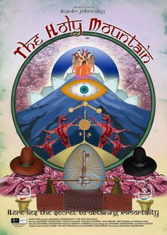 Film poster Holy Mountain by Alejandro Jodorowsky Cult Movies, Drama Movies, Hd Movies, Movies Online, Don Cherry, The Holy Mountain, Hd 1080p, Filmmaking, Album Covers