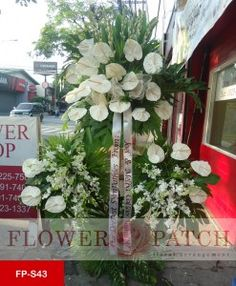 Php 6,500 Funeral Stand  Standing Arrangement of White Anthuriums, Orchids and Tube Roses  Free delivery in Pasig, Makati, Mandaluyong, Pasay, Marikina, San Juan, Manila, Pateros, Taguig, Quezon City, Parañaque, Cainta Rizal, Taytay Rizal, Kalookan, Malabon, Navotas, Valenzuela, Fairview, Novaliches, Las Piñas and Muntinlupa  visit our website http://yourflowerpatch.com/ or @ our facebook page/ flowerpatch2012, or Contact us @ (02)225-7580 / 09178917402/ 09253917402 / 09087231337 or viber us…