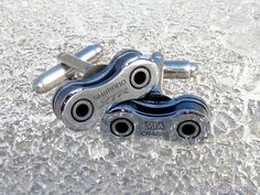 Wedding Groom Gift Cuff Links Shimano XTR Bike Chain Special Edition Mens Bicycle Chain Upcycled - Cyclist Racer Mountain Biker Motorcycle by SpokenStitch on Etsy https://www.etsy.com/transaction/154794867