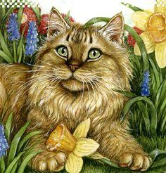 Debbie Cook Cat Artist | Share