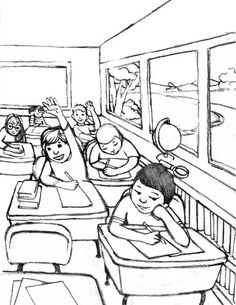 sketches of classroom - Google Search