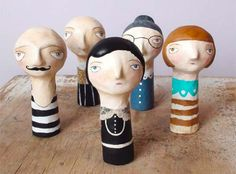 These would be awesome to do in paper maiche for my students unit on 'Puppetry'.