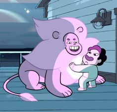 why tho < < oh my god look at it from this perspective where you're typing, it looks like Steven's hella high and happy, and lion's just that drug dealer like 'yeah you like that don't you'