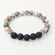 Excited to share the latest addition to my #etsy shop: Essential Oil Diffuser Bracelet, Lava Bead Aromatherapy Bracelet, Healing Stones Bracelet, Yoga Gemstone Bracelet #Aromatherapy