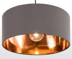 The Hue Pendant Shade in Grey and Copper, super sleek with a warm glow. £29 | http://MADE.COM