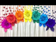 Easy paper flowers birthday decoration at home Tissue Flowers, Paper Flowers Craft, Tissue Paper Flowers, Diy Flowers, Birthday Decorations At Home, Diy Party Decorations, Flower Decorations, Paper Crafts Origami, Paper Quilling