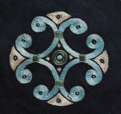 Embroidery - motive from a Scandinavian pendant, 9-10 cent. - Othala Craft