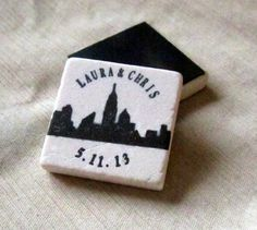 New York City Skyline Save the Date Magnets by My Little Chickadee Creations