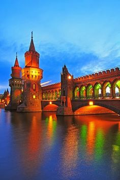 Oberbaumbrücke Bridge over River Spree ~ Berlin, Germany. Definetely going back one day..