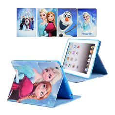 Frozen Cartoon Leather Kids Stand Case Cover For iPad 2 3 4 5 6 Air Mini Pro Frozen Cartoon, Cartoon Kids, Anna Frozen, Disney Frozen, Ipad Air 2 Cases, Ipad Mini 2, Cover, Leather, Elsa Anna