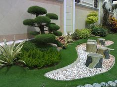 the beautiful garden bonsai and white pebbles as substitute for water 1200x900 1024x768 Garden Decorating Ideas With Pebbles