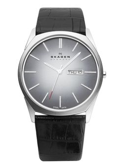 Skagen Men's 890XLSLM Stainless Steel Black Dial Watch