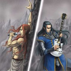 Elf rock: Fingon&Maedhros Edition oh my gosh! Lolololol now I've seen everything<< HELLO FROM THE OTHER SIDE