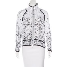 Pre-owned Stella McCartney for Adidas Printed Athletic Jacket ($65) ❤ liked on Polyvore featuring activewear, activewear jackets, black, adidas, adidas sportswear, athletic jackets and adidas activewear