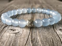 Men gemstone blue bracelet stacking stacking door KennlyDesign