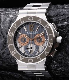 Bvlgari Diagono Calibro 303 chronograph (different bezel)