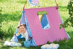 Spielzelt für Kinder: hier finden Sie eine ausführliche Ableitung, wie Sie ein Spielzelt für Kinder nähen können. Im Sommer der perfekte Schattenplatz für Ihre Kinder. © Christophorus Verlag