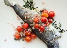 Eatsy: Trout With Cherry Tomato and Caper Relish on Etsy