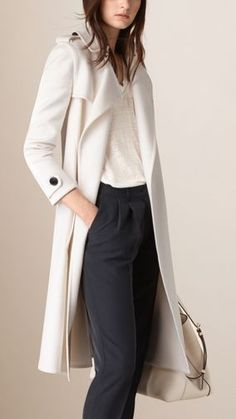 Double Cashmere Wrap Trench Coat