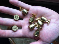 Bullet cuff links  wedding set of 5 pair by DieselLaceDesign