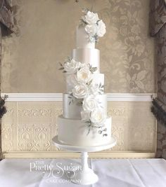Browse through the different cakes we create here at The Pretty Sugar Cake Company, from Wedding Cakes & Wedding Favours to Celebration Cakes, to Cupcakes & Cookies. Wedding Cakes With Cupcakes, White Wedding Cakes, Wedding Cakes With Flowers, Cool Wedding Cakes, Elegant Wedding Cakes, Whimsical Wedding, White Cakes, Wedding Cake Knife And Server Set, Huge Cake
