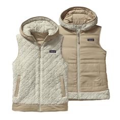 Patagonia Women\'s Los Gatos Hooded Fleece Vest - Bleached Stone BLST