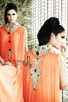 Teena by Hina Butt Valentines Collection 2014 contains most fashionable and chic dresses. see full detail on http://www.newfashioncorner.com/teena-by-hina-butt-valentines-collection-2014/