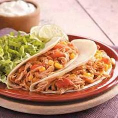 Lime Chicken Tacos Recipe from Taste of Home -- shared by Tracy Gunter of Boise, Idaho