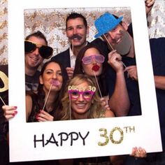 $2.99 AUD - 16/18/30/40/50/60Th 21St Frame Photo Booth Props Happy Birthday Paper Party Tp #ebay #Home & Garden