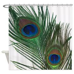 CafePress  Lovely Peacock Feathers  Decorative Fabric Shower Curtain *** Continue to the product at the image link.