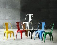 Tolix metal chair by Xavier Pauchard
