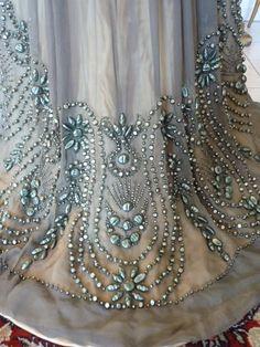 Grey Silk Chiffon Reception Gown, ca. 1909