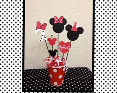 Minnie Mouse Birthday Decoration Centerpiece by TheGirlNXTdoor