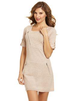 BCBGMAXAZRIA Tab Sleeve Sweater Dress